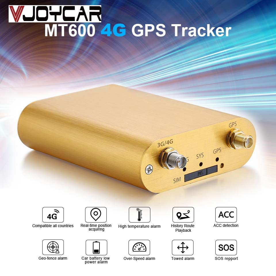 VJOYCAR 4G MT600 Vehicle GPS Tracker Support 2G 3G Car Tracking Locator Real time Tracking Save