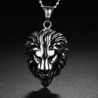 Foreign Hot Titanium Necklace Titanium Lion Lion Pendant Necklace Mens Fashion Titanium Necklace