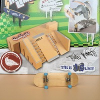 Cheapest! Get an extra fingerborad Ramps Park Professional Mini Finger Skate board Fingerboard ramp Toy
