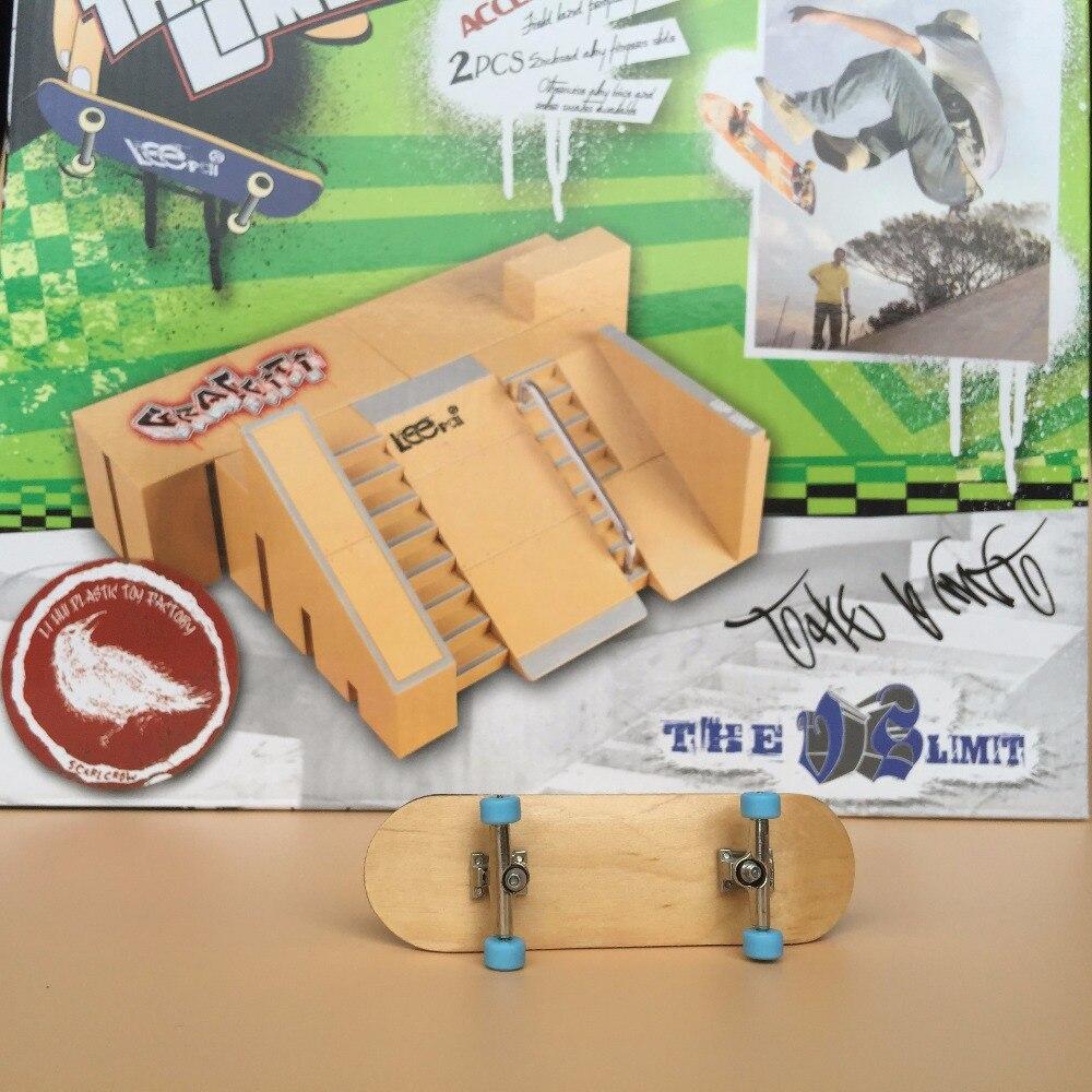 Moins cher! Obtenez une rampe de doigt supplémentaire parc professionnel Mini doigt planche à roulettes doigt rampe jouet