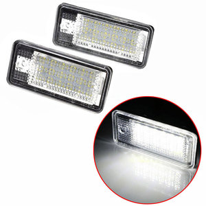 Image 2 - 2pcs Waterproof 18 LEDs Number Plate Light For Audi A3 A4 A5 A6 A8 B6 B7 Q7 White Car LED Number License Plate Lamps