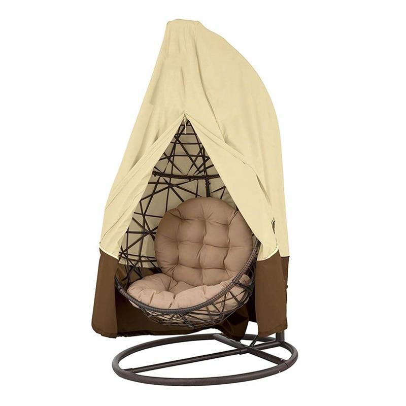 Waterproof Dustproof Garden Rattan Wicker Swing Chair Cover With Storage Bag Patio Hanging Swinging Egg Chair Cover Garden Furniture Accessories Garden Furniture Covers