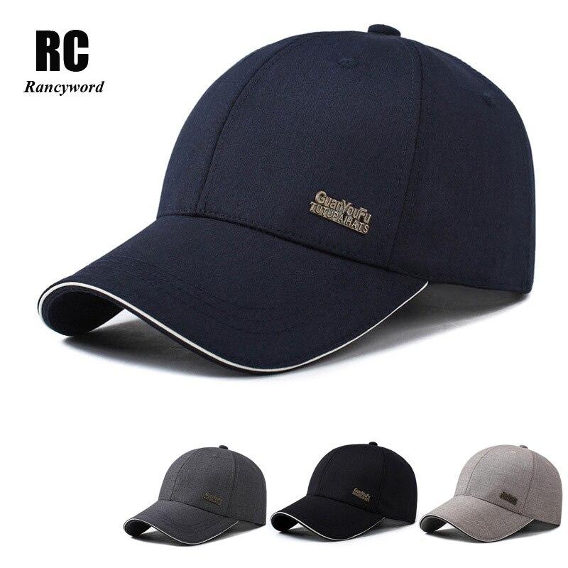 [Rancyword] High Quality Solid Branded Baseball Cap Women Men Cotton Summer Sun Cap Unisex Bone Hip Hop Sun Hats Lady RC1123