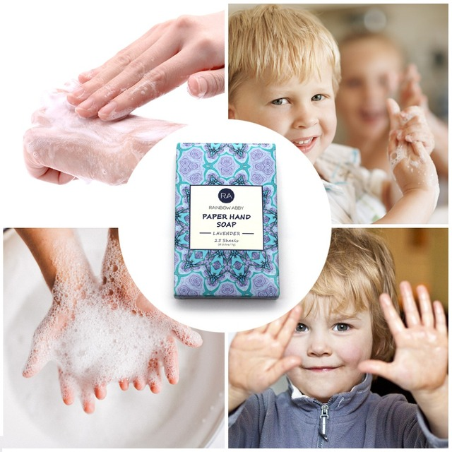 25pcs Disposable Boxed Soap Paper Travel Portable Hand Washing Box Scented Slice Sheets Mini Soap Paper 4