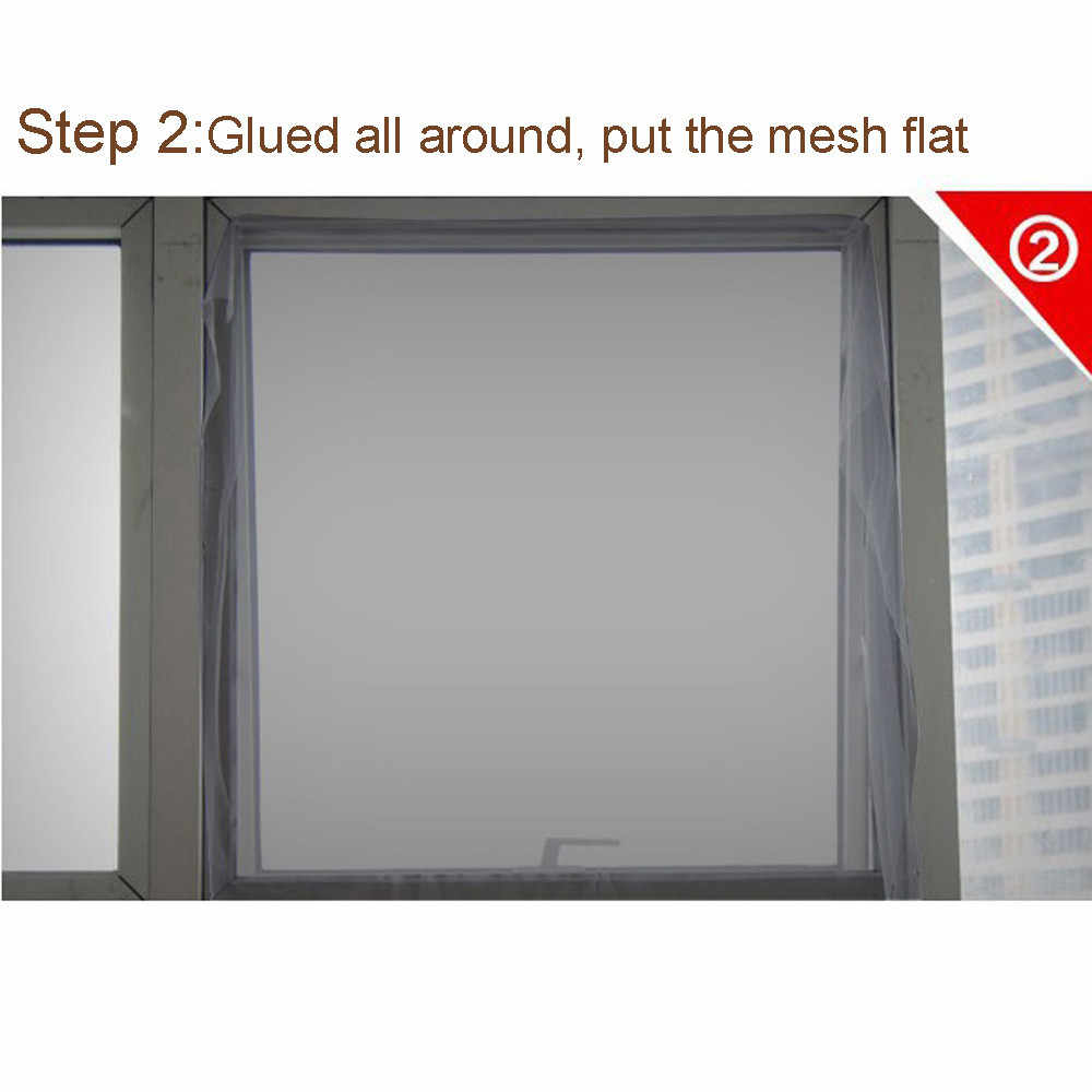 1PC 2019 New Indoor Insect Fly Screen Curtain Mesh Mosquito Bugs Nets For Home Decor Doors And Kitchen Windows Stickers