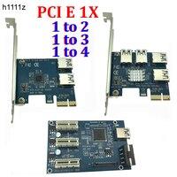 PCI E 1 To 3 4 2 PCI Express 1X Slots Riser Card Mini ITX To