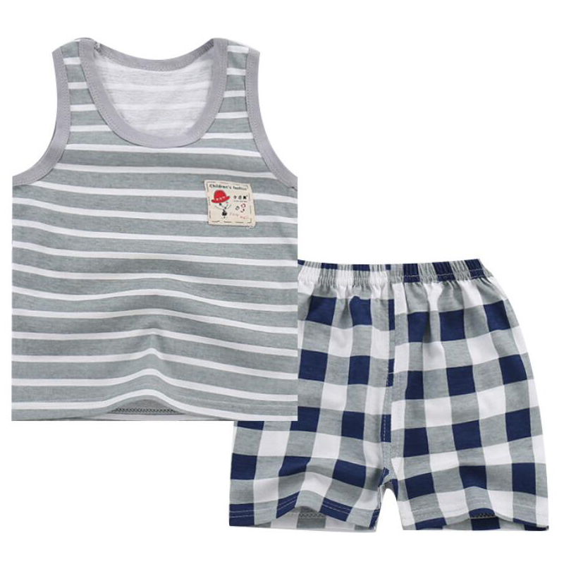 цены Baby Boy Summer Clothes Clothing Set Suit Pajamas Shorts Pants Kids Little Toddler Boy Summer Vest Outfit T Shirts 1 2 3 4 Year