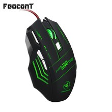Wired Gaming Mouse Opto-electronic 7 Buttons USB Game Mice 5500DPI Adjustable For Computer Games Desktop Laptop Notebook PC original logitech g102 gaming wired mouse optical wired game mouse support desktop laptop support windows 10 8 7