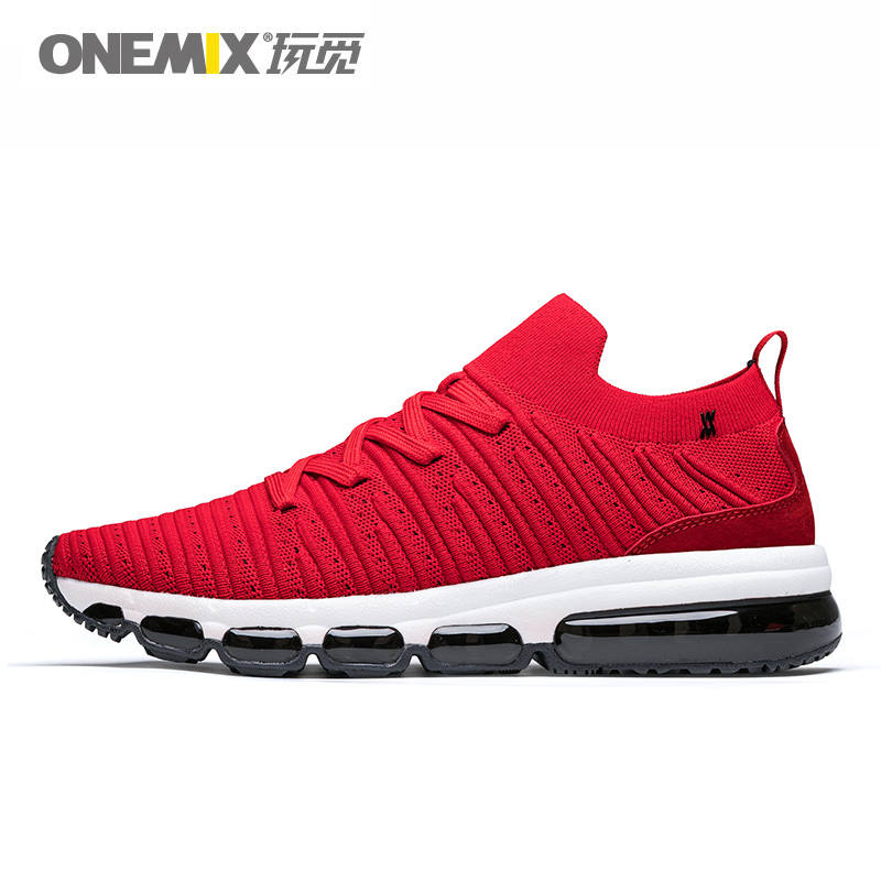 ONEMIX Women Running Shoes For Men Breathable Mesh Outdoor Jogging AIR Cushion Sock like Sneakers Max