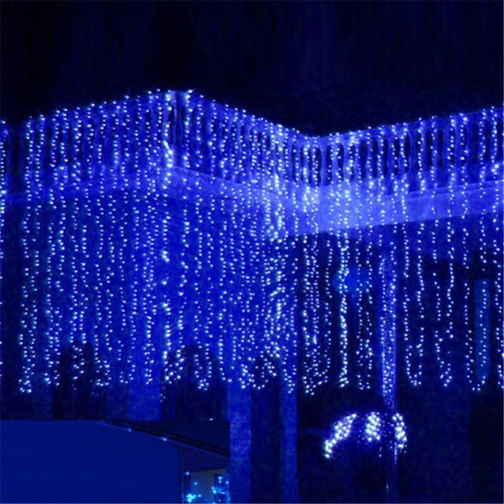 Indoor christmas decorations lights - New Year 3m X 3m 300 Led Christmas Lights Outdoor Decoration Fairy Wedding Curtain String Luces