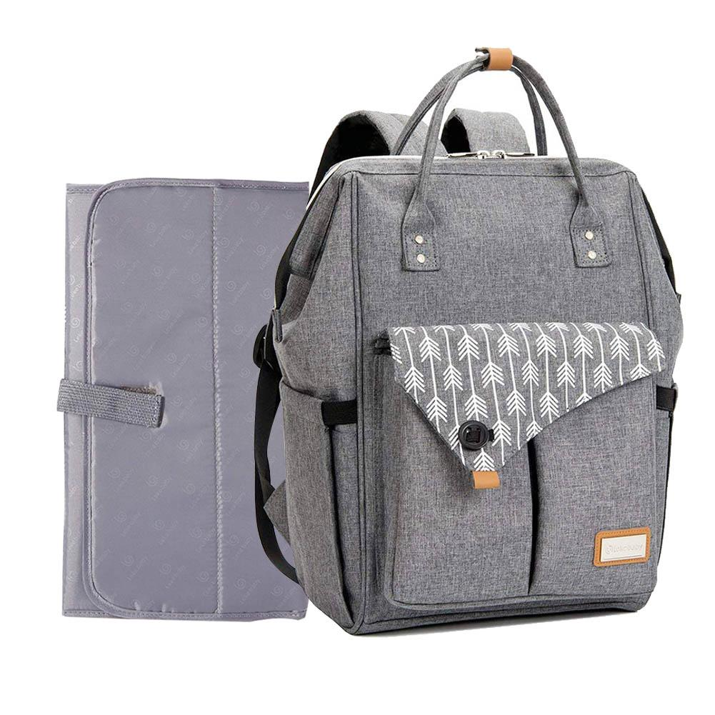 Multi functional Large Capacity Mummy Bag Waterproof Backpack Can Be Hung To Stroller Stylish Outdoor Backpack