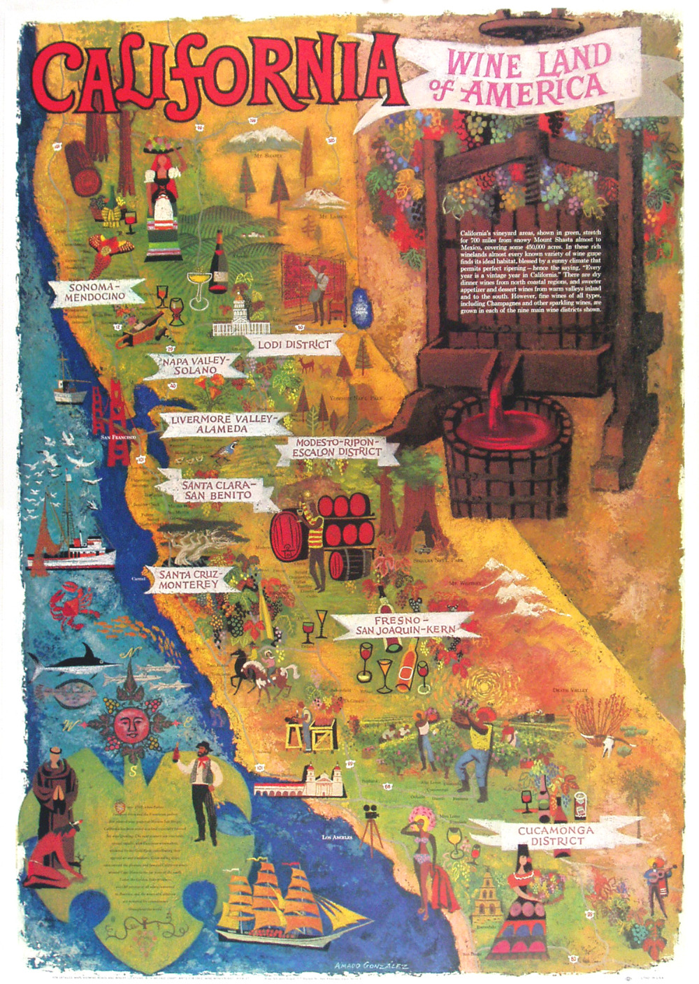 California Map Poster PromotionShop for Promotional California – Travel Map Of California