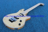 Hot Customised Electric Guitar E V H Type Natural Color Maple Neck Chrome Parts Floyd Rose