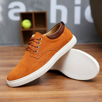 2018 New Fashion Spring Summer Suede Casual Flats Shoes Men Sneakers Lace Up Breathable Men Shoes