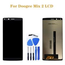 Doogee mix 2 lcd + 터치 스크린 디지타이저 교체 doogee mix 2 lcd 디스플레이 수리 부품 + 도구 용 오리지널 디스플레이