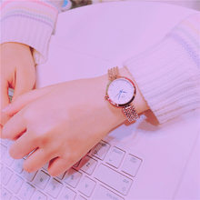 Luxury Crystal Rose Gold Silver Women Wristwatches Bead Chain Weave Ladies Dress Bracelet Watch Female Leisure Hours Clock(China)