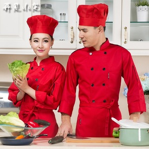 Image 2 - Chef service long   sleeved hotel chef work clothes autumn and winter Western restaurant bread baking hotel kitchen Only jacket