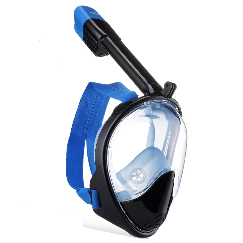 High-quality Full Face Anti-Fog and Anti-Leak Snorkel Diving Mask equipment with 180 Degree Viewing Area and Gopro Camera Moun