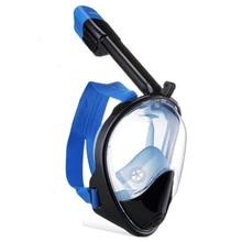 Högkvalitativ Full Face Anti-Fog och Anti-Lek Snorkel Diving Mask utrustning med 180 graders visning område och Gopro Camera Moun