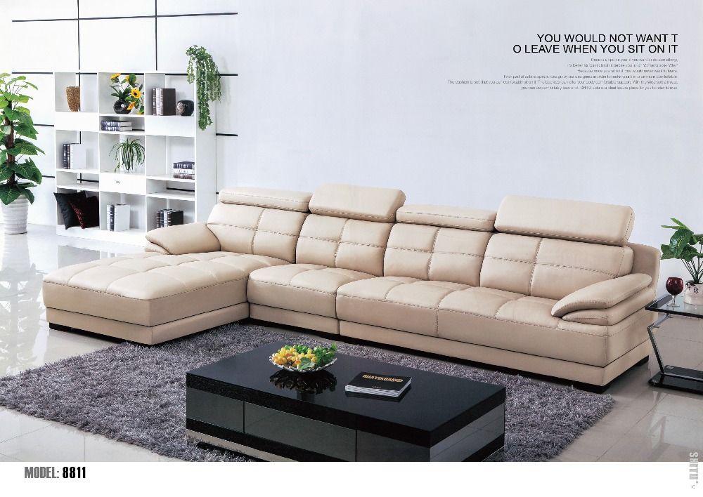 2015 Sofa Design Living Room Furniture Modern Leather