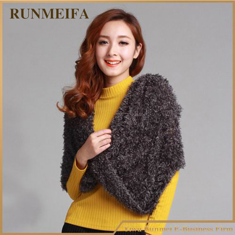 Luxury Brand Fashion Winter Warm  Magic Scarf Multipurpose Plush Feeling 35 Colors Soft Comfortable Pashmina Shawls And Capes