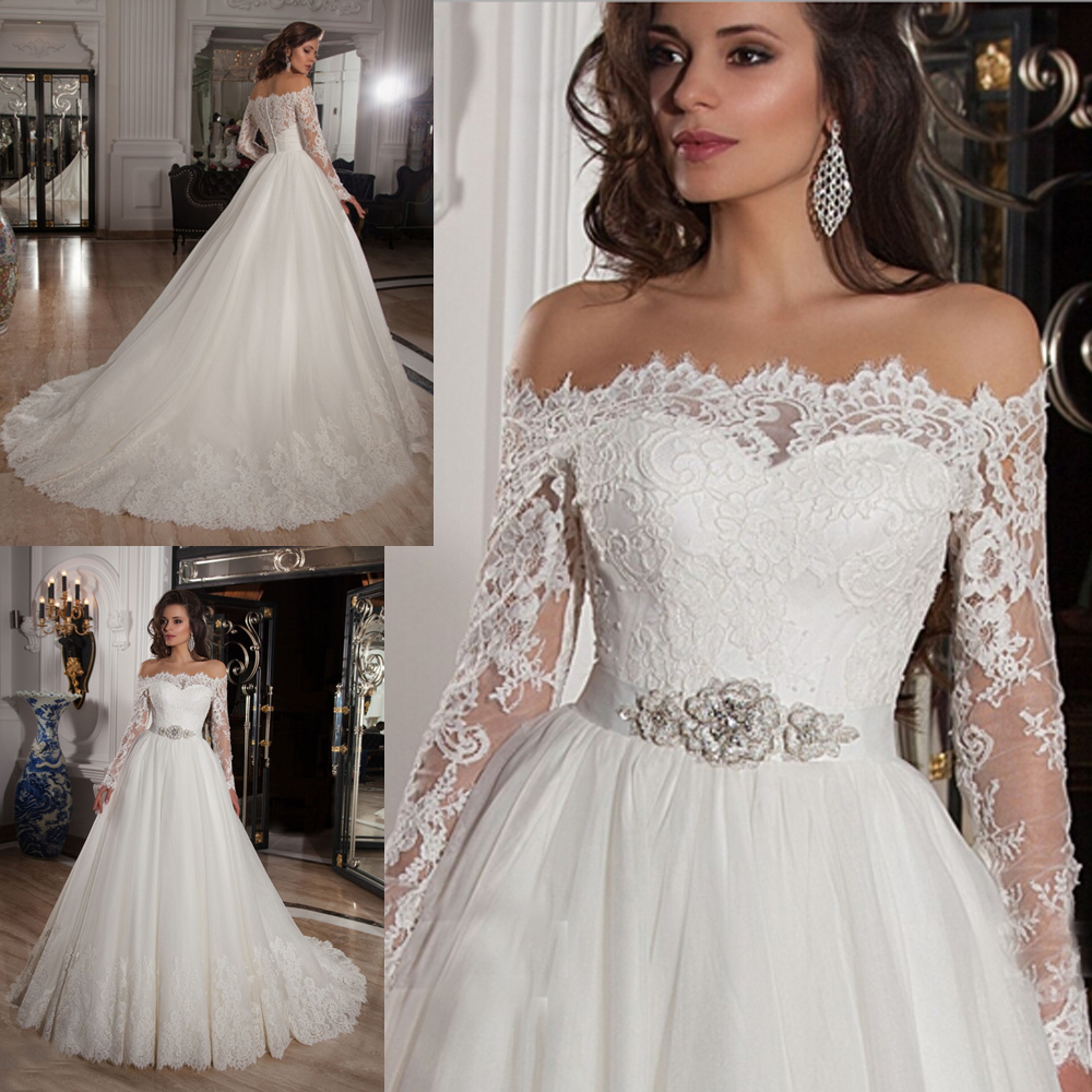 Aliexpress.com : Buy Arabic Off the Shoulder Princess Wedding ...