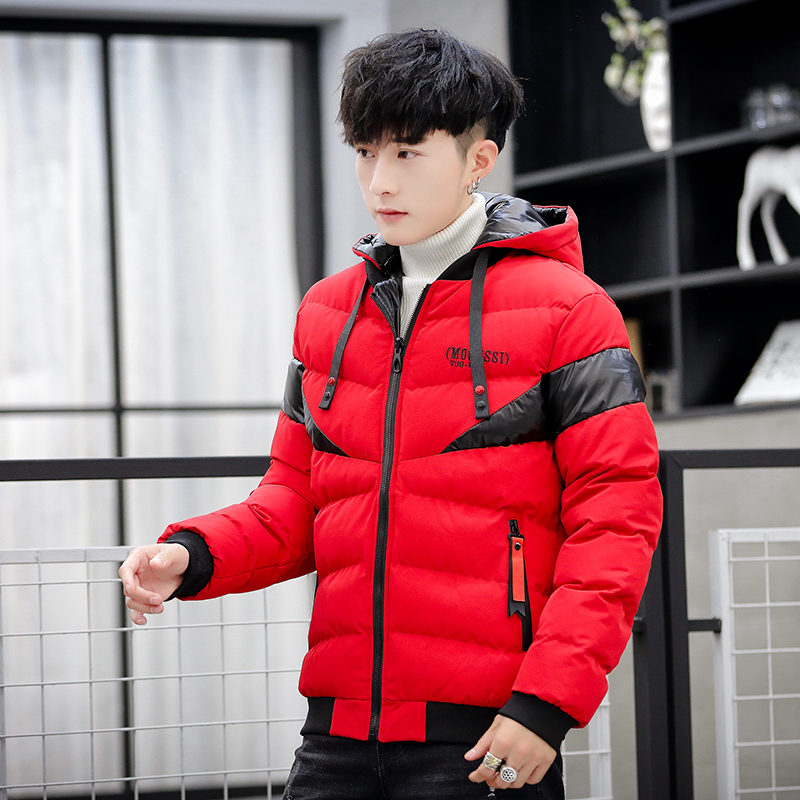 New Arrival Men's Hooded   Parkas   Wear On Both Sides Patchwork Winter Man Coat Windproof Keep Warm Men's   Parkas   Coats