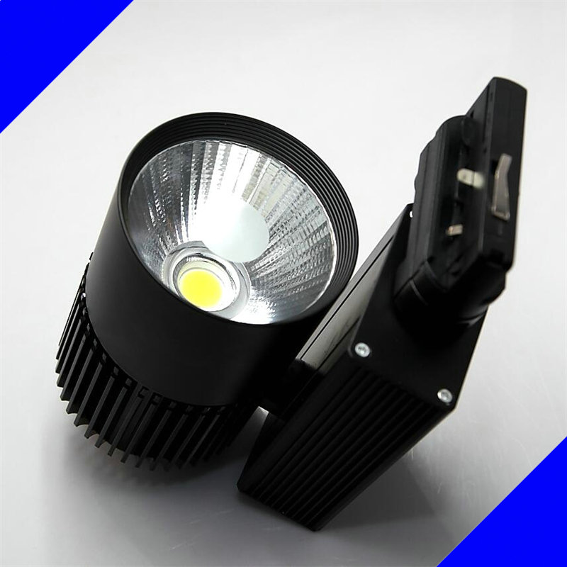 Free shipping White shell/Black shell 30W COB LED tracking light LED Spotlight lamps 30W 4 line energy saving rail light free shipping k5 metal shell