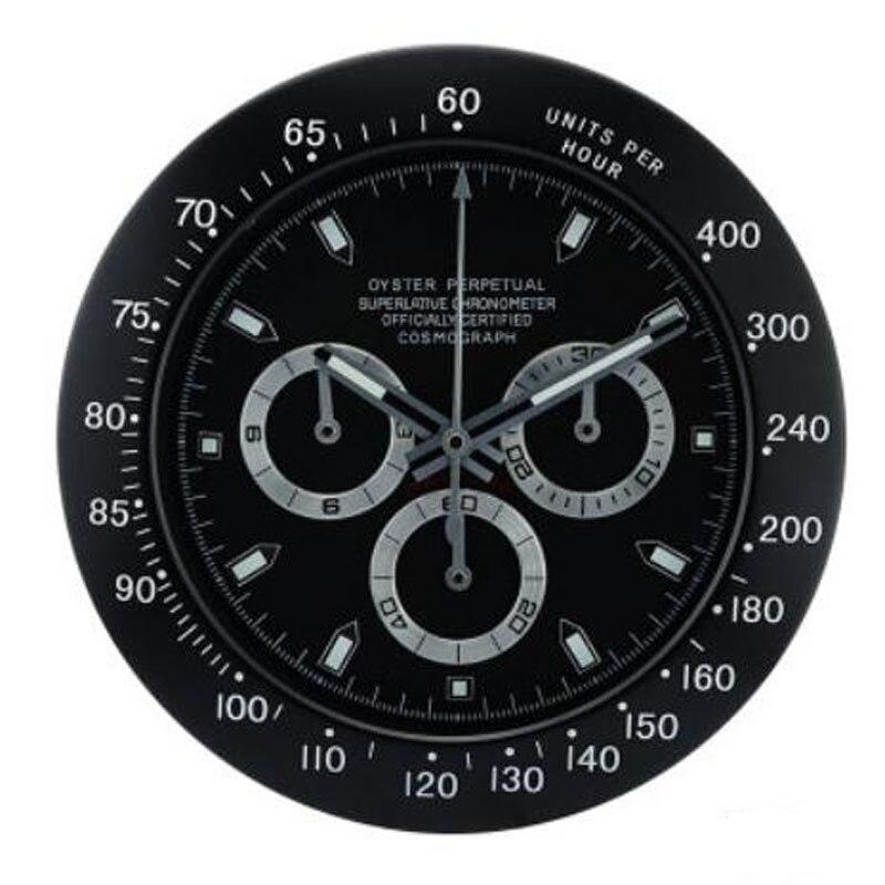 Reloj de pared con forma de reloj de Metal de calidad de diseño superior luminoso con mecanismo silencioso con logotipos correspondientes-in Relojes de pared from Hogar y Mascotas    3