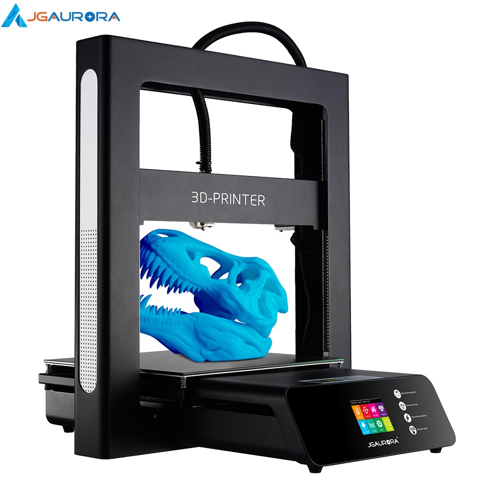 JGAURORA A5 3D Printer Updated LCD Dispaly with Large Printing Area Printing Machine ABS PLA Support SD card