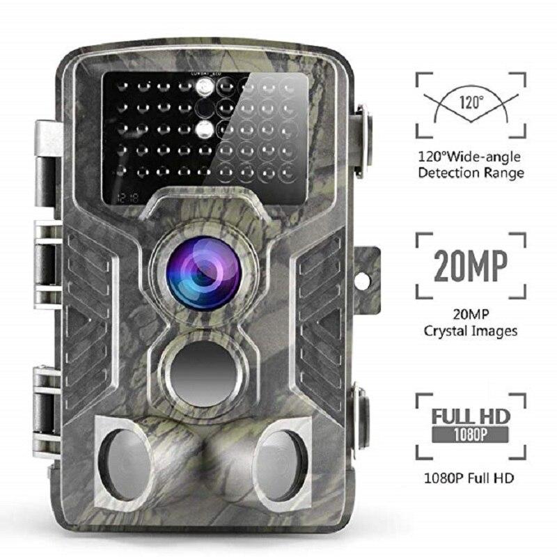Suntekcam 16MP HC800A Caméra Piège caméra de chasse IP65 Étanche vision nocturne Sauvage Caméras Photo Piège 940nm Visualisation caméra de pistage