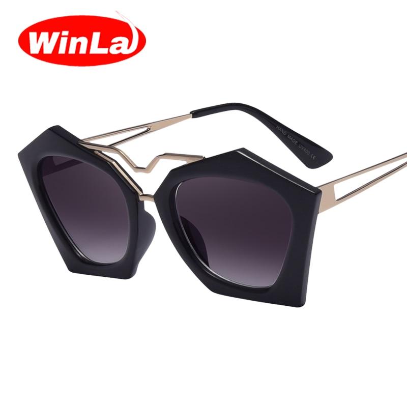WINLA Escudo Gafas de Sol para Las Mujeres Nuevo Estilo de Moda ...