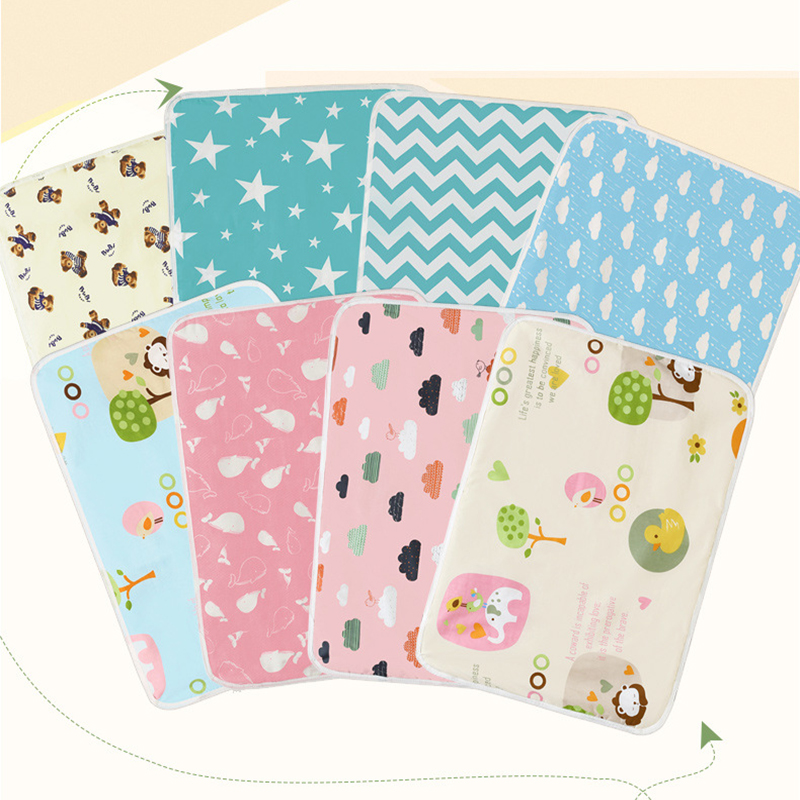 Baby Diaper Changing Pad Newborn Travel Nappy Mattress Waterproof Breathable Cotton Changing Table Floor Play Mat Covers 30