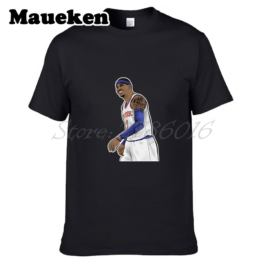 Men Carmelo Anthony #7 T-shirt Clothes Short Sleeve T SHIRT Mens Fashion W0223029