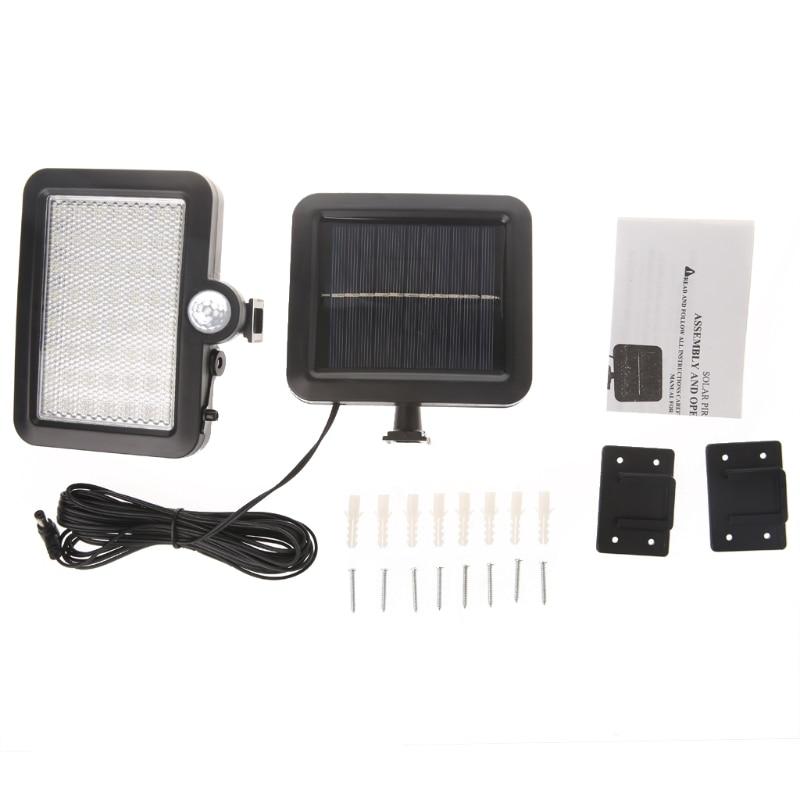56 LED Solar Powered PIR Motion Sensor Light Security Flood Outdoor Garden Lamp