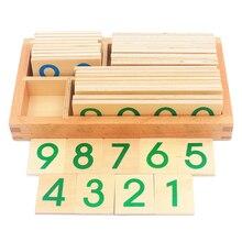 Enfants en bois Montessori numéro numérique 1 9000 cartes jouets pour les étudiants apprenant des jouets éducatifs de petite taille