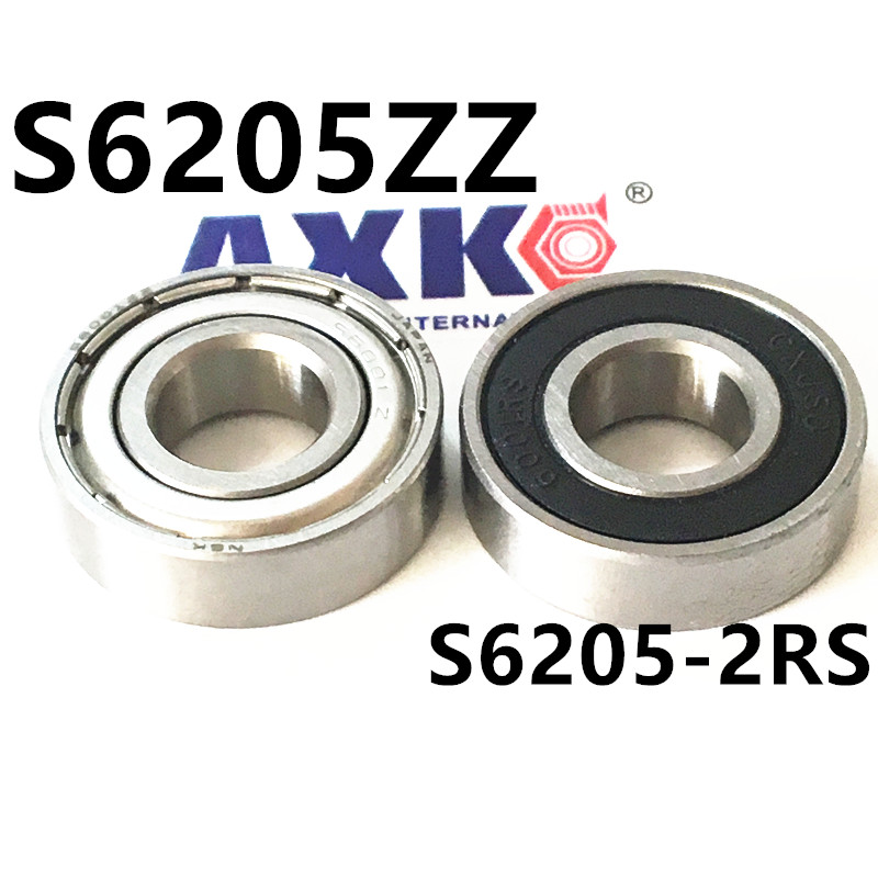 все цены на  Bearings 25x52x15 mm Rubber Seal Stainless Steel Ball Bearings S6205-2RS S6205ZZ SB6205ZZ 25*52*15 mm  онлайн