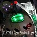 Element Airsoft HEL-STAR 6 стробоскоп ИК-красный зеленый сигнальный свет безопасная лампа для выживания мягкие тактические шлемные огни EX433