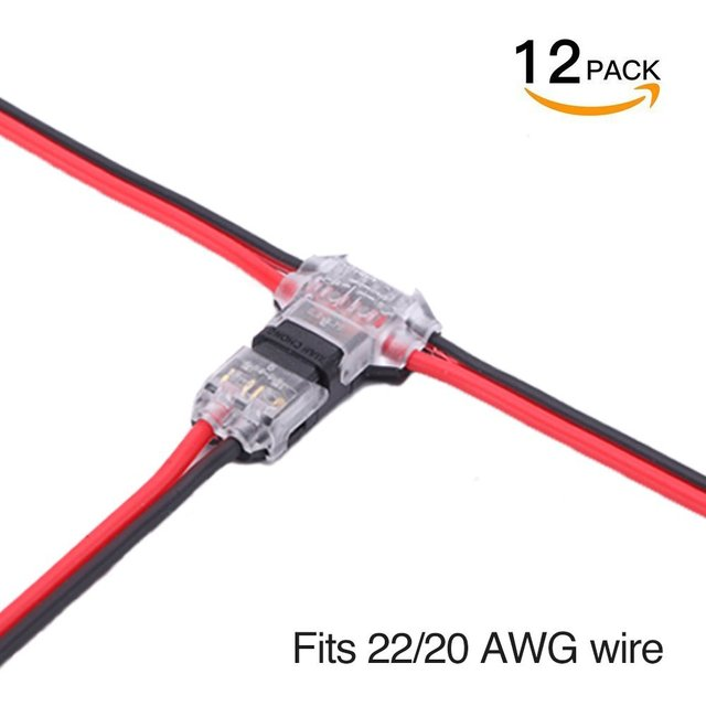 Connecting Low Voltage Wires | Wire Connectors Pack Of 12 Low Voltage Wire T Tap Connectors T Type