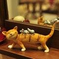 Американский кантри Домашнего Интерьера украшение кот украшения исследование шельфа ТЕЛЕВИЗОР кабинет дисплей подарок на день рождения