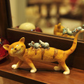 American country Home Furnishing ornament cartoon cat ornaments study shelf TV cabinet display birthday gift