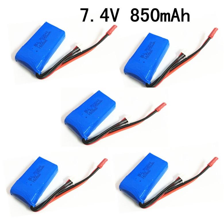 V912-21 7.4 V 850 Mah batterie 10 pcs/lote pour Wltoys V912 V262 V333 V353 A949 A959 A969 A979 U829 hélicoptère pièces V912-22 comme cadeau