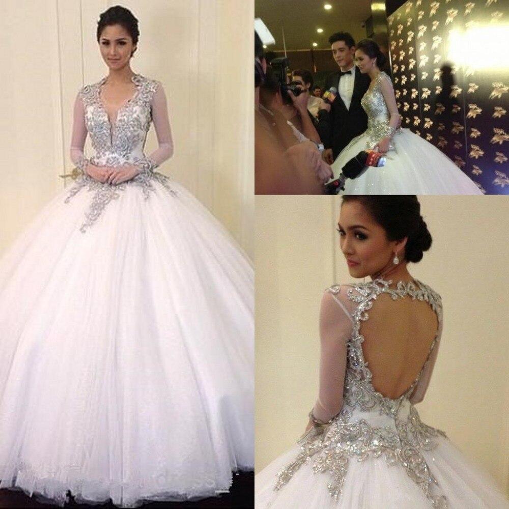 Sexy bling princess wedding gown 2014 vestidos noivas cap for Wedding dress bling detail