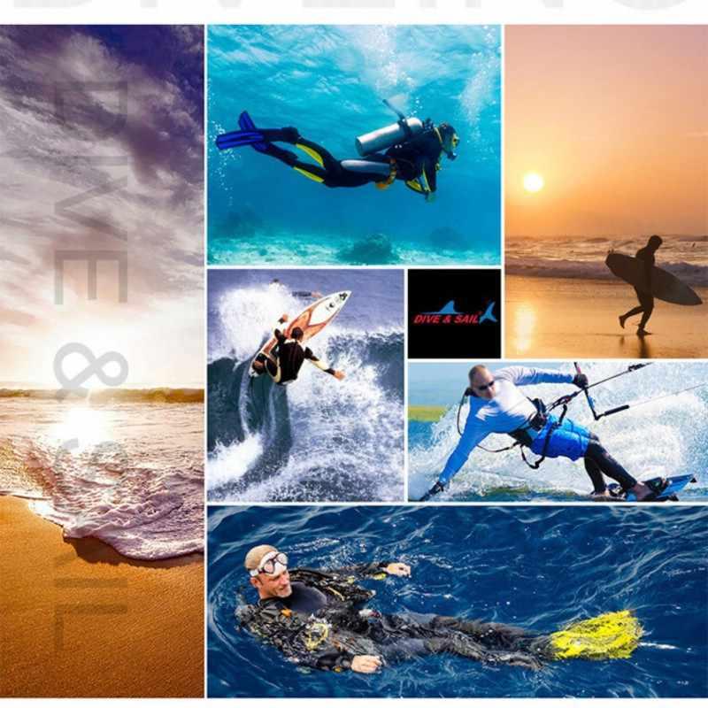 Baru Pria Wanita UV Wetsuit Perlindungan Baju Lengan Panjang Zipper Depan Baju Renang Surfing K Berlaku untuk Menyelam