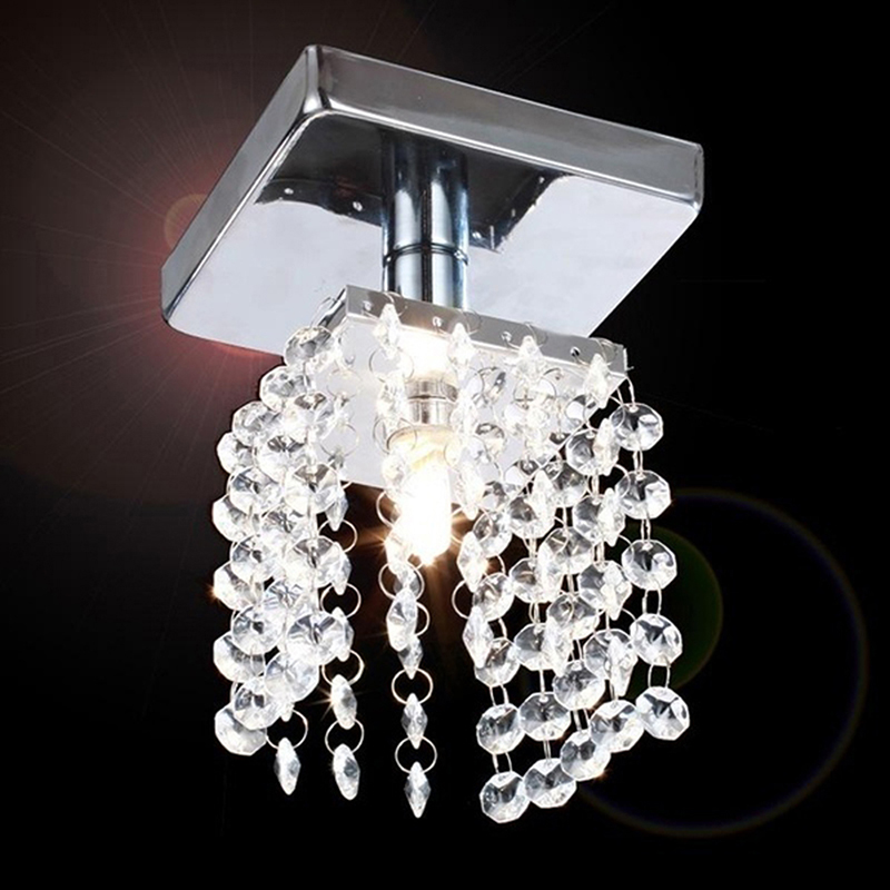Modern Led Crystal Lamp Lighting Chrome Ceiling Lights Home Decoration luminaria led lam ...