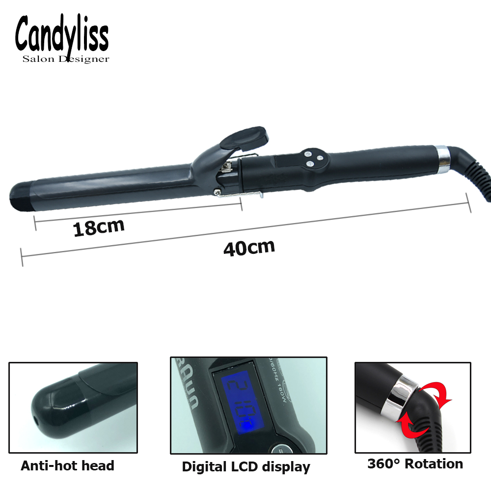 Professional Ceramic Hair Curling Iron 19 22 25 28 32 38mm Hair Curler Roller Hair Styler Wave Wand Curling Hair Volume Salon in Curling Irons from Home Appliances