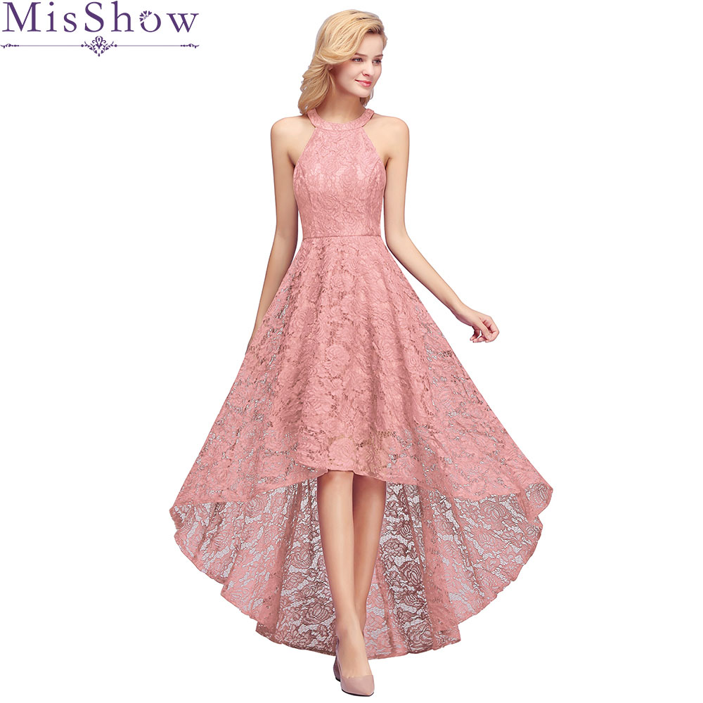Robe Demoiselle D'honneur Dust Pink Sleeveless Bridesmaid Dresses 2019 Elegant Sexy Halter Wedding Formal Dress Gown Plus Size