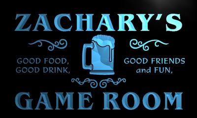 x0181-tm Zacharys Game Room Beer Mug Custom Personalized Name Neon Sign Wholesale Dropshipping On/Off Switch 7 Colors DHL