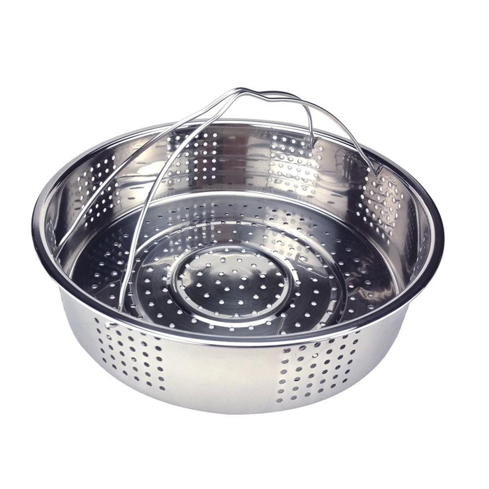 Kitchen Colander Steamer Stainless Steel Steamer Rice Cooker Fruits Steamer Instant Pot Steam Basket With Metal Handle
