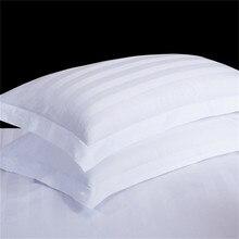 1 шт. подушка из хлопка с эффектом памяти чехол классическая белая полоса подушки, декоративная наволочка на Спальня отельная постельная Подушка Чехол подушка обман